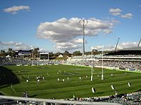 A rugby league match at Canberra Stadium
