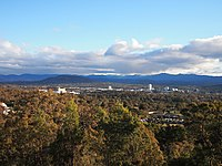 The Woden Valley viewed from Red Hill