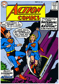 Supergirl's first appearance in Action Comics #252 (May 1959). Art by Curt Swan