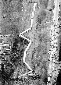 Aerial view of the 1987 Maryland train collision