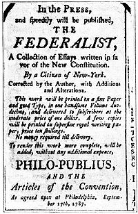 The Federalist Papers argued in favor of a strong connection between citizens and their representatives.