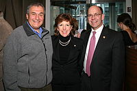 Lobbying depends on cultivating personal relationships over many years. Photo: Lobbyist Tony Podesta (left) with former senator Kay Hagan (center) and her husband.