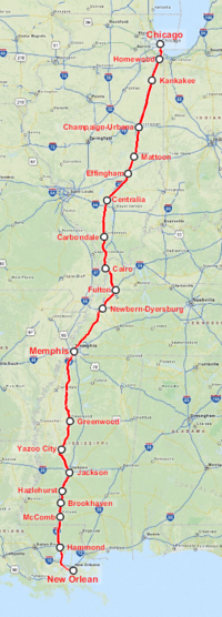 Amtrak City of New Orleans (interactive map)