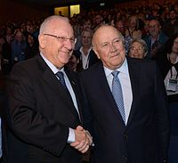 De Klerk with the Israeli President Reuven Rivlin in 2015