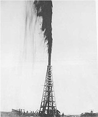Spindletop, the first major oil gusher