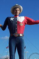 Big Tex presided over every Texas State Fair since 1952 until it was destroyed by a fire in 2012. Since then a new Big Texas was created.