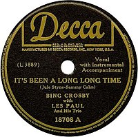 1945 recording by Bing Crosby with Les Paul and His Trio on Decca