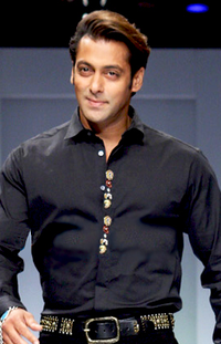 Salman Khan ramp walk in 2011. He has been the most domestically successful Indian actor in the 2010s.