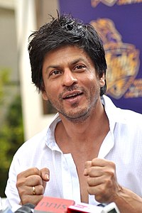 Shah Rukh Khan in 2012. He was the most successful Indian actor for most of the 1990s and 2000s.