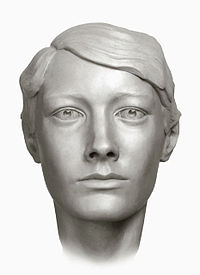 A forensic facial reconstruction of Grand Duchess Tatiana by S.A. Nikitin, 1994