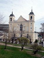 The Church of the Holy Apostles Peter and Paul, built in the early 17th century, is the oldest existing building in the city.
