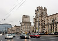 Railway Station Square, an example of Stalinist Minsk architecture.
