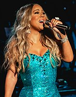 """Mariah Carey made chart history when """"All I Want for Christmas Is You"""" finally reached number-one in 2020, after previously reaching the peak of 2 in 1994, 2017, 2018 and 2019. In its 70th week the song reached the top spot, this is the longest amount of time in the top 40."""