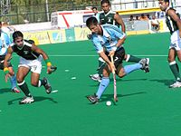 Pakistan playing against Argentina in 2005.