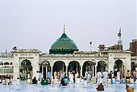 The Data Darbar shrine, one of Pakistan's most important, was built to commemorate the patron saint of Lahore, Ali Hujwiri, who lived in the city during the Ghaznavid era in the 11th century.