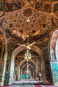 Lahore's Wazir Khan Mosque is considered to be the most ornately decorated Mughal-era mosque.