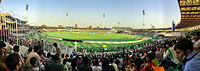 Gaddafi Stadium is one of the largest stadiums of Pakistan with a capacity of 27,000 spectators.