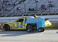 Raines' No. 34 Nationwide car in 2009