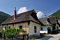 Wooden folk architecture can be seen in the well-preserved village of Vlkolínec, a UNESCO World Heritage Site