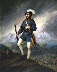 One of the commanders of a Slovak volunteers' army captain Ján Francisci-Rimavský during the fight for independence from the Kingdom of Hungary