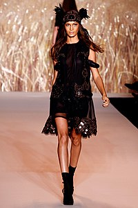 Joan Smalls for Anna Sui Spring/Summer 2011.