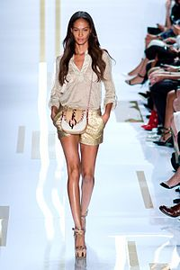 Smalls on the runway for DVF, 2014 New York Fashion Week
