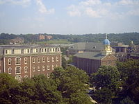 St. Mary's Hall and the Immaculate Conception Chapel at the University of Dayton
