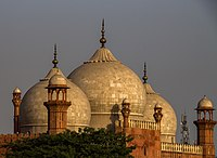 The mosque's domes