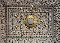Light fixtures at the mosque