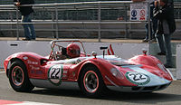 The McLaren M1A sports car of 1964 was the team's first self-designed car. The 'B' version raced in Can-Am in 1966.