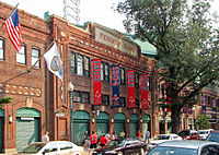 The front of Fenway Park facing Jersey Street.