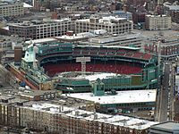 Fenway in 2012, with additions to the left field grandstand