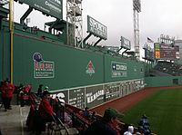 The Green Monster measures 37.167 ft tall.
