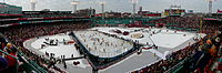 The rink layout for the 2010 NHL Winter Classic