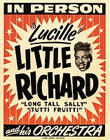 A poster for a Little Richard show, 1956