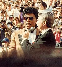 Little Richard, interviewed during the 60th Annual Academy Awards, 1988
