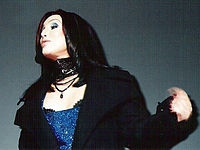 """Cher performing """"Believe"""" during WKTU's Miracle on 34th Street concert in 1998"""