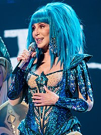 Cher performing in London during her Here We Go Again Tour in October 2019