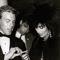 Cher attending an autograph session in New York, 1985