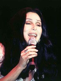 Cher performing in New York, 1996