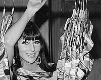 Cher on the set of the television series The Man from U.N.C.L.E., 1967