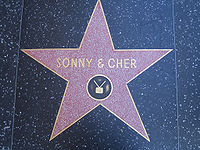 Sonny and Cher's star on the Hollywood Walk of Fame
