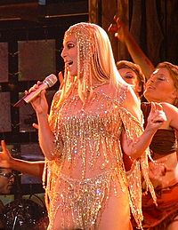 Cher performing during Living Proof: The Farewell Tour in 2004