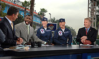 The NFL Today pre-game show with officers of the U.S. Air Force Thunderbirds.