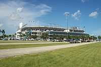 Dolphin Stadium (now Hard Rock Stadium) was selected to be the host site for Super Bowl XLI.