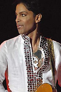 American singer and musician Prince headlined the halftime show