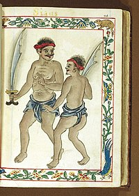 Warriors from Siau Island, North Sulawesi in the Philippines, c. 1590 Boxer Codex