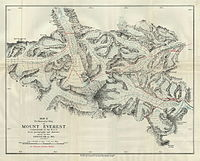 1921 expedition map