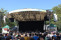Summerstage features free musical concerts throughout the summer.