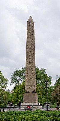 Cleopatra's Needle, the park's oldest man-made structure